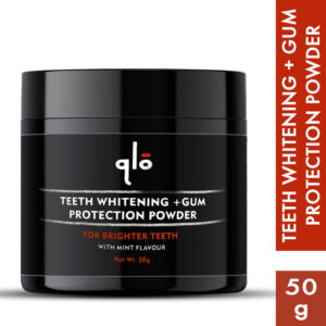 QLO Charcoal Teeth Whitening+ Gum Protection  (50 g)